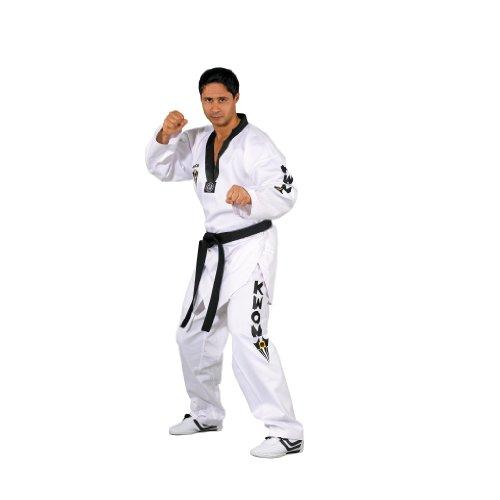 Kwon Kampfsportanzug Taekwondo Starfighter Schwarzes Revers, weiß, 180, 1007180