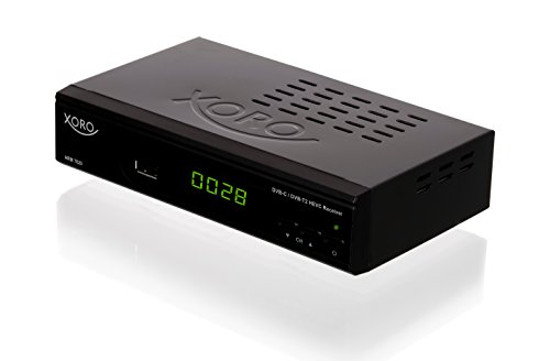 Xoro HRM 7620 Full HD 'HEVC DVB-T/T2/C' Kombi Receiver (HDTV, HDMI, SCART, Mediaplayer, USB 2.0, LAN, PVR Ready) schwarz