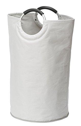 Wenko 3440001100 Wäschesammler Jumbo Stone - Multifunktionstasche, Fassungsvermögen 69 L, Polyester, 38 x 72 x 38 cm, Beige