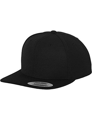 Flexfit Classic Snapback Cap, Mütze Unisex Kappe für Damen und Herren, One Size, Farbe black