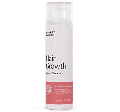 Haarwuchs förderndes Shampoo - MADE BY NATURE Ganz natürliches Shampoo zur Stärkung der Haut - Ohne Paraben, Sulfat und Konservierungsstoffe - Feuchtigkeitsspendende & regenerierende Wirkstoffe