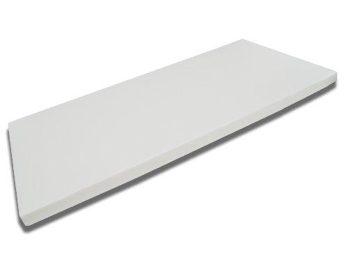 FMP Matratzenmanufaktur 42-0002,viscoelastische Matratzenauflage, Visco-Topper, weiß, 90 x 200 x 8 cm
