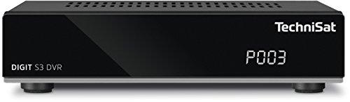 TechniSat DIGIT S3 DVR / Digital-Receiver mit Single-Tuner für Empfang in HD mit PVR-Aufnahmefunktion, Timeshift, schwarz