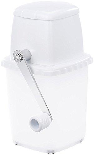 Rosenstein & Söhne Ice Crusher: Stromloser Eiscrusher mit Edelstahl-Mahlwerk und Handkurbel (Eiscrasher)