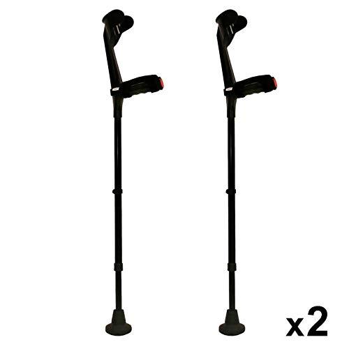 KMINA - Krücken Schwarz, Gehhilfe krücken, Gehhilfen krücken, Krucken, Gehilfen krücken KMINA COMFORT PLUS Doppelset