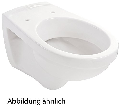 Wand-WC   Tiefspüler   Weiß   WandWC   Toilette   Hänge-WC   Klo   Bad   Badezimmer   Gäste-WC   Keramik