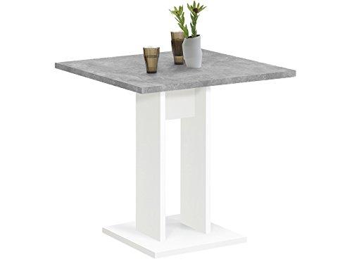 Esszimmertisch Küchentisch Esstisch Holztisch Speisetisch Tisch 'Yvette I' Weiß/Beton LA