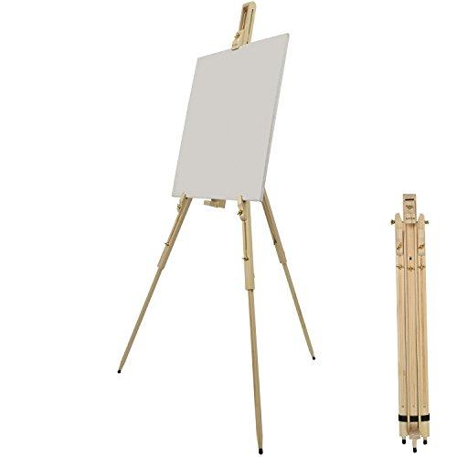 Artina Feld-Staffelei Malaga aus Massiv-Holz: tragbare, leichte Staffelei & äußerst stabil. Perfekt als Künstler-Bedarf