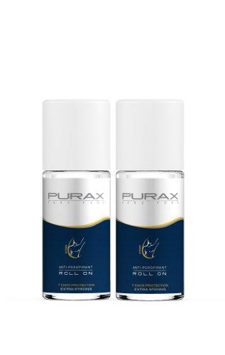Purax Antitranspirant Roll On Extra Strong 50 ml (Doppelpack 2x 50ml)