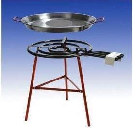 Paella Grillset 'Carmona' mit 3-flammigem, 60cm Gasbrenner (24,5 KW), 80cm Pfanne, verstärkte Füsse, incl. Schlauch und Druckminderer