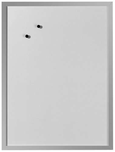 Herlitz 10524627 Whiteboard und Magnettafel (silbernen Holzrahmen, 40 x 60cm) weiß