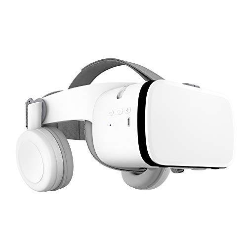 VR Shark X6 - VR Brille / Headset / VR-Box kompatibel zu 4,7 - 6,2 Android Smartphones von Samsung, Sony, HTC, LG, Huawei, Motorola, Xiaomi, Asus, Google Pixel - inkl. Hardcase [Bluetooth / weiß ]