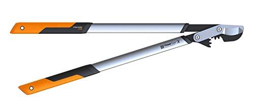 Fiskars PowerGear X Bypass-Getriebeastschere für frisches Holz, Antihaftbeschichtet, Gehärteter Präzisionsstahl, Länge 80 cm, Schwarz/Orange, LX98-L, 1020188