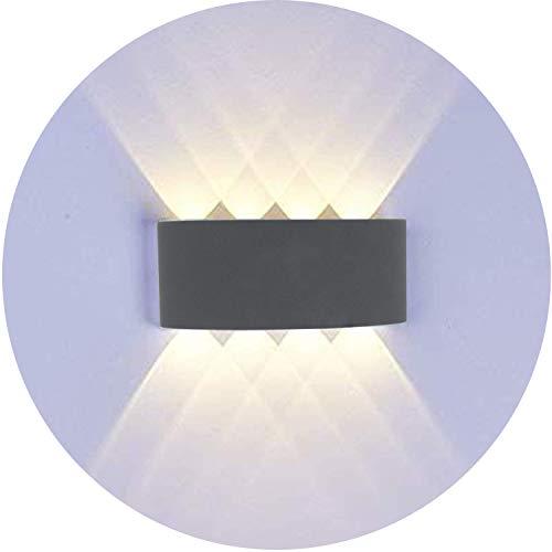Topmo-plus 8W LED Wandlampe Wasserdichte IP65 Wandbeleuchtung LED Außenwandleuchten (8W grau / warmweiß)