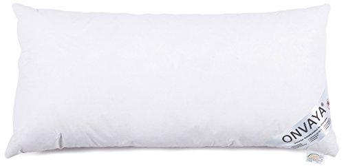 Evolon Premium Allergiker Kissen 40 x 80 cm | Kopfkissen | Hausstauballergie | Milbendicht | Milbenschutz | Antibakteriell | Atmungsaktiv | Made in Germany | ONVAYA