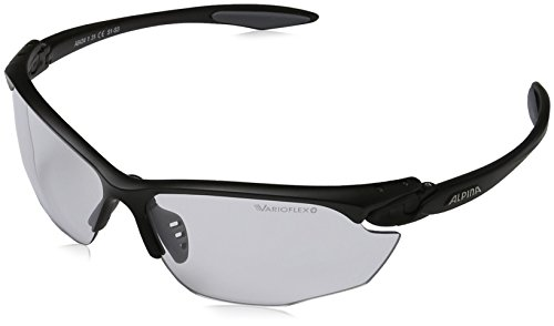 Alpina Unisex Sportbrille Twist Four VL+, black matt, A8434131