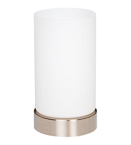 Trango LED Glas Nachttischlampe Tischleuchte 'Paula' inkl. 1x E14 LED Leuchtmittel 3000K warm-weiß TG2017-01