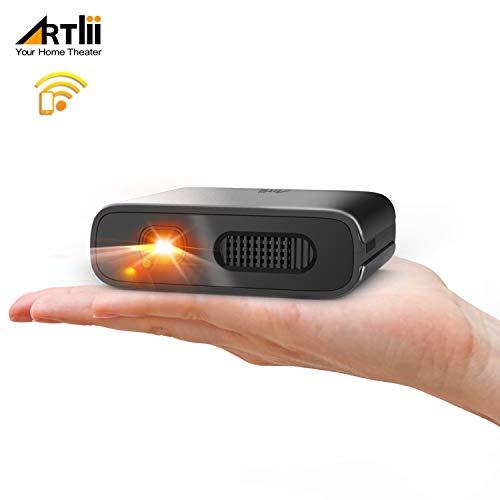 Artlii Mana Mini Beamer - WiFi Beamer DLP mit Eingebaute 5200mAh Akkus Tragbarer Projekto Unterstützt 3D Film und Airplay Miracast