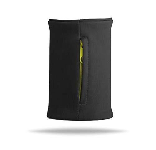 Schweißband für Arm, Hand und Handgelenk, Schweißarmband mit Zipper Reißverschluss Reissverschluss für Herren und Damen Handgelenktasche Schlüsselarmband Geldbörse Armband schwarz