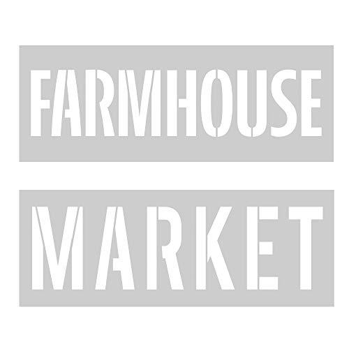 Crafter's Workshop Farmhouse Schablone, wiederverwendbar, Schablonenvorlagen für Kunst-Journaling, Mischmedien und Scrapbooking