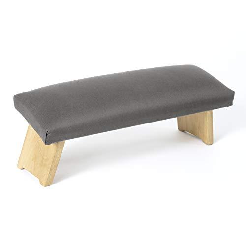 Lotuscrafts Meditationsbank Klappbar Dharma mit Gepolsterter Sitzfläche - Made in Europe - Yoga Hocker aus massivem Buchenholz - Kniesitz Meditationsbank für eine Tiefe Meditation