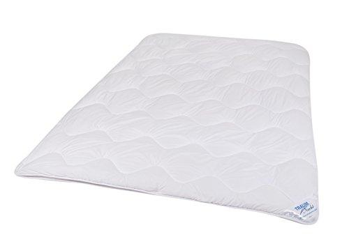 Traumnacht 3-Star 4-Jahreszeiten Bettdecke, Mikrofaser, 220 x 240 cm, weiß