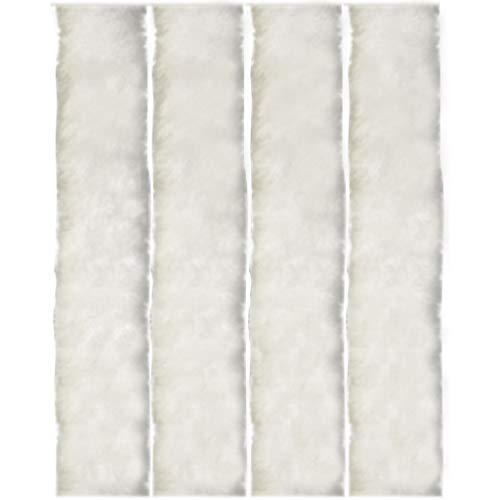Flauschvorhang, Campingvorhang, Insektenschutz Uni farbend, Auswahl: weiß - perlweiß 56 x 185 cm