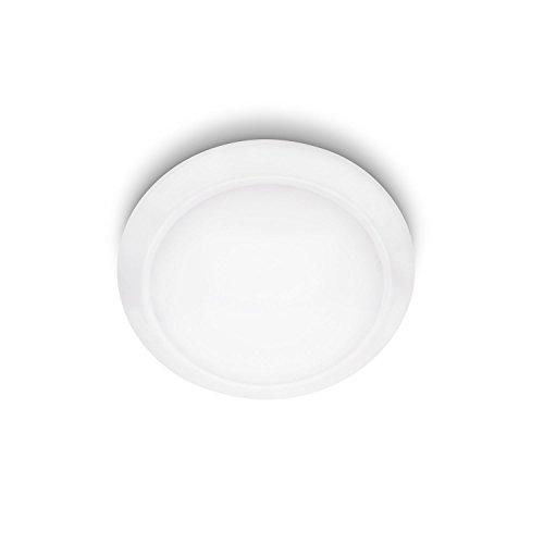 Philips myLiving LED Deckenleuchte Cinnabar, 600 lm, 27,4 x 27,4 x 7,7 cm, weiß 333613116