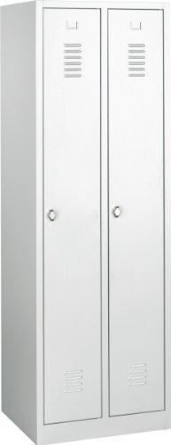 Spind Spint Stahl-Kleiderschränke Gaderobenschrank 510100 / 2 türig 250mm kompl. montiert und verschweißt