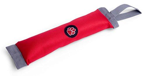 Outdoor Paws Wurf- und Apportierspielzeug mit Quietsche für Hunde, rot/grau