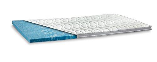 GELAX | Gel-Schaum Topper Matratzenauflage | 7cm Gesamthöhe | waschbarer Bezug mit 3D-Mesh-Klimaband und Stegkanten | Raumgewicht RG 50 | 90 x 200 cm
