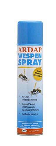 ARDAP Wespenspray / Insektizid mit Sofort- und Langzeitwirkung zur Bekämpfung von Wespen, Wespennestern & weiteren Schädlingen / 1 x 400 ml