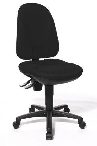 Topstar Point 35, Bürostuhl, Schreibtischstuhl, Rückenlehne höhenverstellbar, Bezugsstoff schwarz