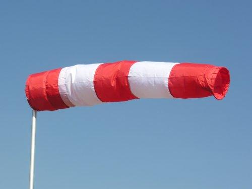 Windsack rot-weiß 30cm Durchmesser, 1,80m lang