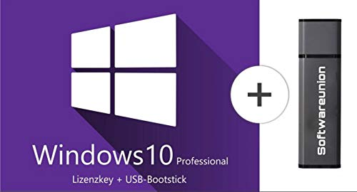 Windows 10 Pro 32 bit & 64 bit - Original Lizenzschlüssel mit bootfähigen USB Stick von - SWU Softwareunion