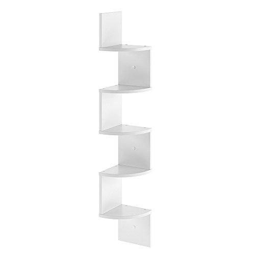 VICCO Eckregal SNAKE - Hängeregal Wandregal Bücherregal Regal Design (Weiß)