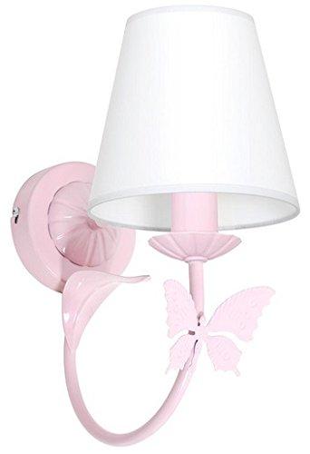 MINI MOTYL I / Schmetterling Hellrosa Wandleuchte Wandlampe Lampe Kinderzimmerleuchte Kinderzimmerlampe