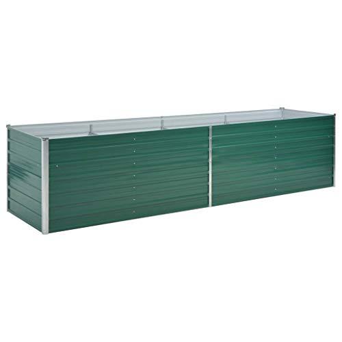 vidaXL Hochbeet Verzinkter Stahl 320x80x77 cm Grün Gartenbeet Pflanzbeet