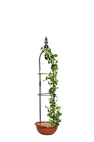 TrendLine Obelisk 2er Set Rosenturm Rankhilfe Metall Rankgitter Rosenpyramide