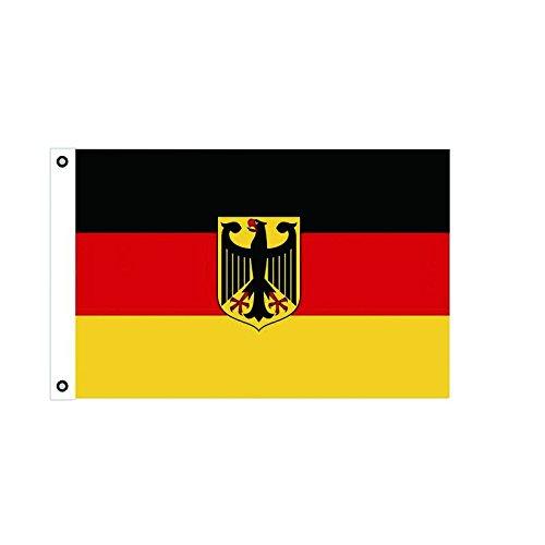 BGF Deutschland Flagge Fahne mit Adler 150x90cm Stoff 100g/qm