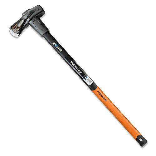 Fiskars Spalthammer (geschmiedet), 2 in 1 Axt und Hammer, Gewicht: 3,68 kg, Gehärtete Stahl-Klinge/Glasfaserverstärkter Kunststoff-Griff, Schwarz/Orange, X37, 1001704