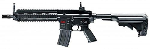 Elektrische Softair - Gewehr Schnellfeuerkarabiner HK 416C mit Akkus, Metalllauf - Stärke 0.5 Joule