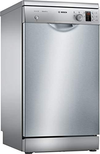 Bosch sps25ci05e freistehend 9Besteck A + Spülmaschine-Spülmaschinen (freistehend, Edelstahl, Edelstahl, Knöpfe, Rotation, 1,75m, 1,4m)