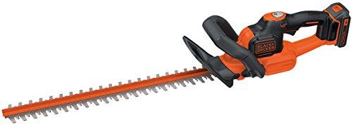 Black+Decker Akku Heckenschere GTC18502PC mit Antiblockierfunktion, Schnell-Ladegerät und hohem Bedienkomfort / 18mm Schnittstärke zum Schneiden mittelgroßer Hecken / 18V / 2,9kg leicht