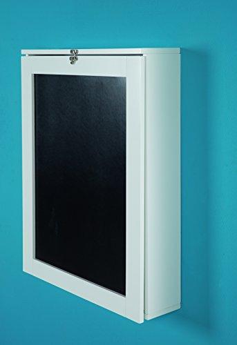 PHOENIX 805106WE Schreibtisch York zur Fixierung an der Wand, ein/ausklappbar mit viel Stauraum und Ablagefächer und Tafelfront, BxHxT 75.5x149x60cm, weiß