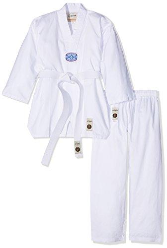 Ju-Sports Kinder Taekwondoanzug To Start Anzug, Weiß, 130 cm