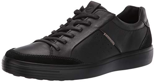Ecco Herren Soft 7 Men's Sneaker, Schwarz (Black 51052), 42 EU