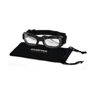 30SDBIBLCL07 DOGOPTICS Hundebrille 'Biker black' / Fassung schwarz / Gläser klar / Größe 'Medium - 07'