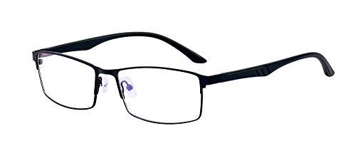 ALWAYSUV Blaulichtfilter Lesebrille Vollrandbrille Computerbrille Anti Blaulicht Lesehilfe Optische Brille Schwarz