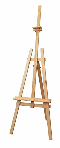 Staffelei 180 cm leiter, Vintage, 3 stufen, buchenholz, staffelei deko, für Erwachsene und Kinder, Künstlerprofi, Tischstaffelei, groß holz, staffelei retro
